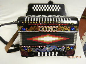 12 bass Caringi button accordion