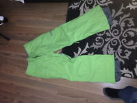 Green Burton snowboard pants, Mens small