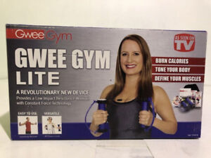 GWEE GYM LITE TOTAL BODY EXERCISE KIT W. DVDS- BNIB- mnx