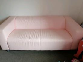 Pink ikea sofa