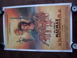 MAD MAX BEYOND THE THUNDERDOME oroginal movie theater poster