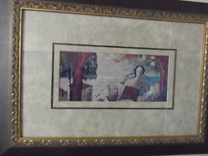 Rich and Elegant Beautifully Framed Print of Lovely Lady Resting London Ontario image 3