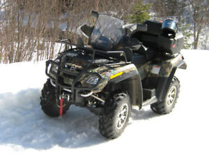 VTT. Canam Outlander 2008, 2 places, 650c.c. 4X4, Couleur Camo.