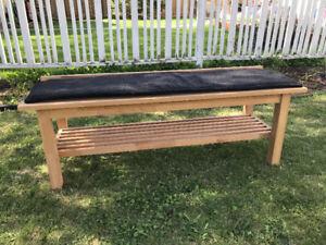 Ikea SJORNA solid wood bench and cushion