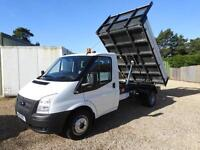 FORD TRANSIT TIPPER 350 DRW 1 stop tipper 42,000 miles, White, Manual, Diesel, 2