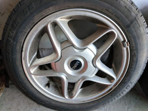 """MINI COOPER 16"""" ALLOY WHEELS WITH TIRES"""