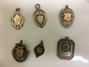 Vintage Sterling Silver Watch Fobs, 1800-1900's