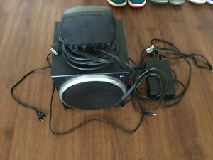Logitech CPU speakers, subwoofer and centre speaker only