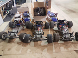 3 Traxxis rustlers 1/10 scale & spare parts