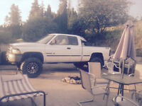 Lifted 1999 Dodge Pickup Truck Runs on propane or gas
