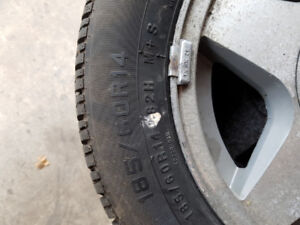 14 inch tires on rims, set of 4
