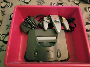 Nintendo N64 with hookups and 3 controllers
