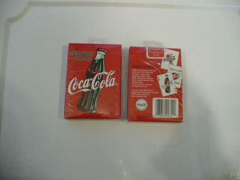 Coca-Cola Bottle Cap Design Playing Cards-MIB 2000