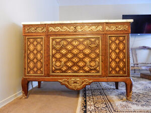 ANTIQUE FRENCH COMMODE CABINET