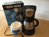 Black and Decker Coffee Machine with large pack of filters