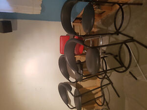 4 Leather Bar Stools for Sale