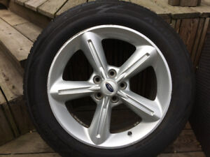 """18"""" used Ford mustang alloy rims with  Yokohama tires"""