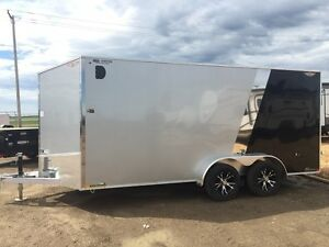 2017 HH 2017 HH 7X16'+ V-NOSE AL SERIES FLAT TOP CARGO