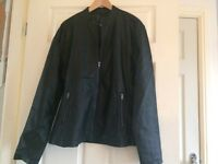 French connection leather look men's biker style jacket