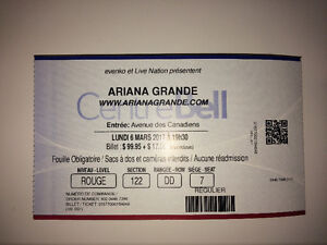 1 Billiet Ariana Grande