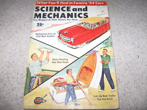 Vintage Science and Mechanics Magazines-1954.1955-$10 each