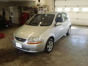 2008 CHEV AVEO5 HATCHBACK SILVER IN COLOR $2695 PLUS THE HST