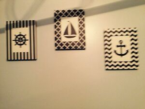 Sailor picture set for boys bedroom
