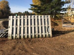 Fence sections for sale $2 a foot