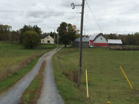 Old farm house for rent on 100 acres