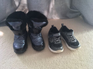 Size 9 Couger girls winter boots & size 9 Sketcher runners