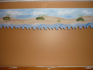 Antique Saw Blade Hand Painted Island Sand Dunes