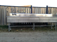 stainless steel 5 compartment sink