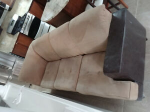 Sofa bed, dining table with 5 chairs in good condition