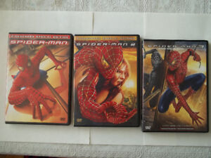 set of 3 Spider-man movies on DVD