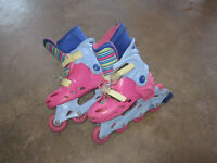 Barbie Adjustable Inline Skates (Size 13 - 1 - 2)