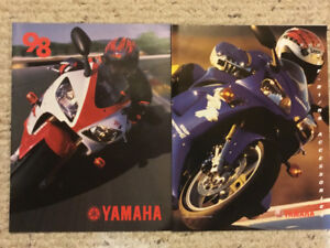 1998 Yamaha Motorcycle Brochures