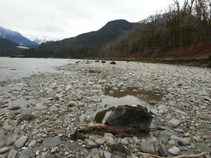 Placer Gold Claim on Fraser River by Hope