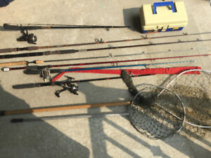 Fishing Equipment- Rods, Reels, Nets - Mitchell, Lews, Shimano.