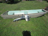 Jon Boat 10ft. and 4 hp. Evinrude motor