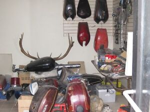 Used Vintage Japanese Motorcycle Parts 70s & 80s