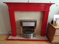 Red fire and fire surround
