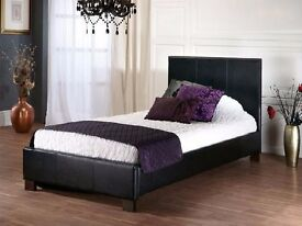 CHEAPEST OFFER -- Single Leather Bed -- Memory Foam/Orthopaedic Mattress -- Order Now
