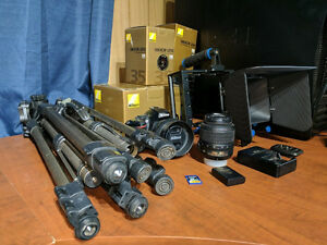 Modified Nikon D5100, Tripods, Lenses, Camera Cage, and More!