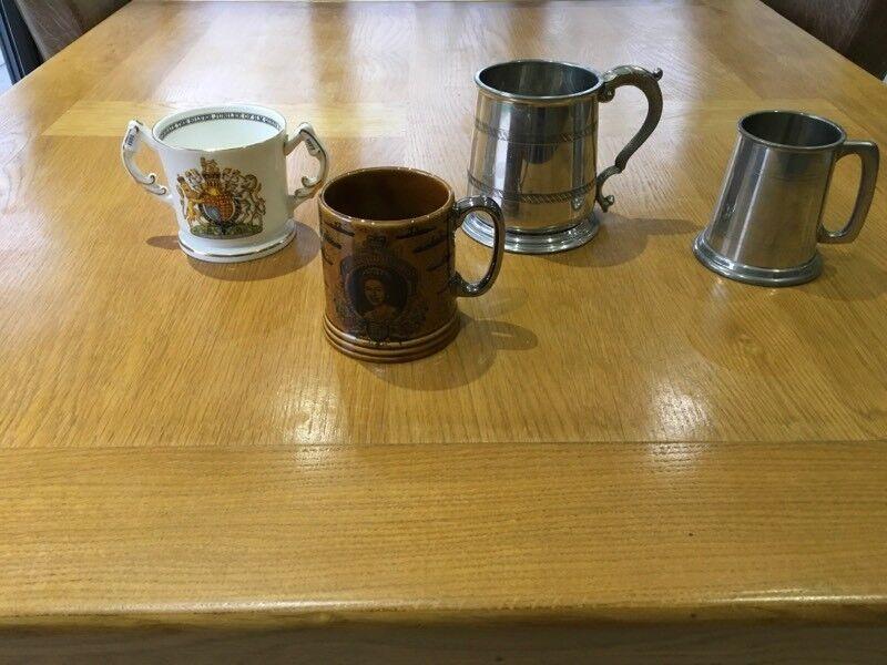 China and pewter mug collection