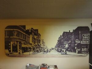 large picture on styrofoam frame 8' by 3' Orillia