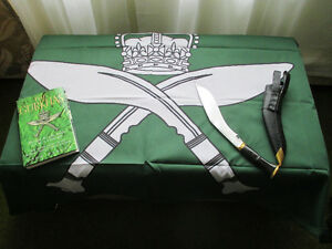 R.G.R KNIFE, FLAG & BOOK