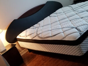 King-size full bedroom set with new mattress(Brick),$950