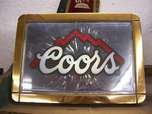 Vintage working Coors Starburst beer sign