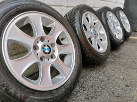 """16"""" inch bmw alloy wheels and tyres 5x120 fitment 1 series 3 series"""