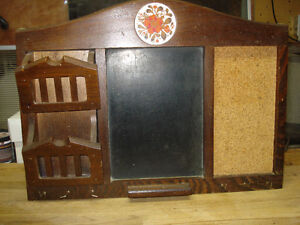 Solid wood message board- $10.00  One side with letter holder, c